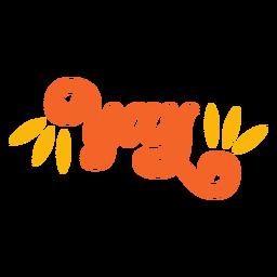 Yay lettering retro