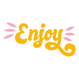 Enjoy lettering retro