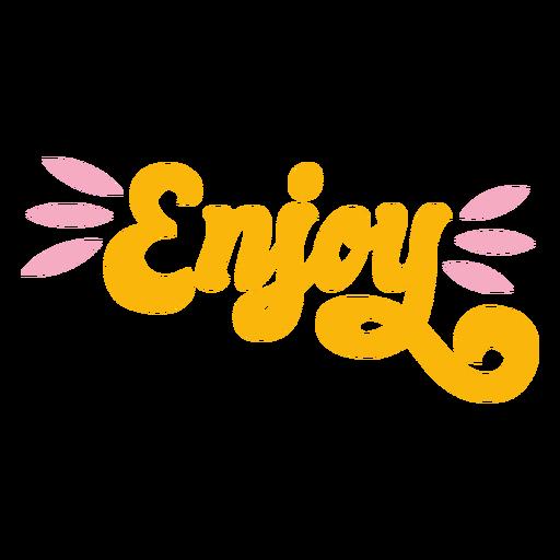Enjoy lettering retro Transparent PNG