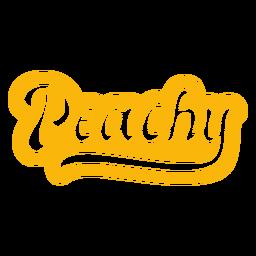 Peachy letras vintage