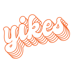 Yikes lettering retro