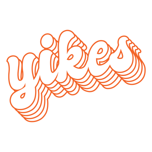 Yikes lettering retro Transparent PNG