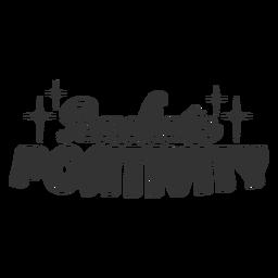 Radiate positivity lettering