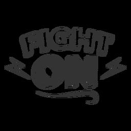 Lucha contra la cita en blanco y negro