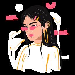 Personagem de ilustração do dia da mulher