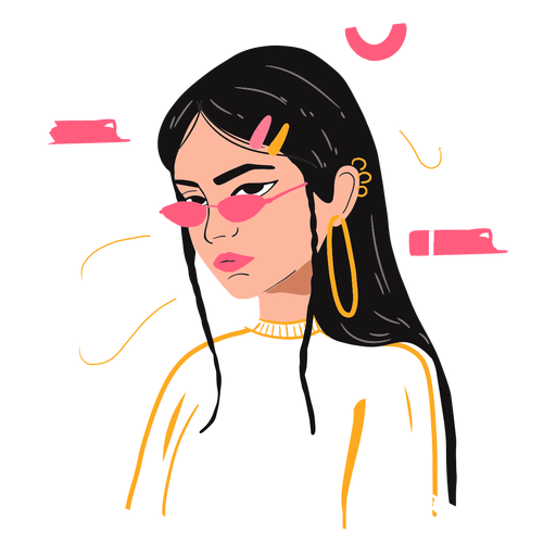 Woman's day illustration character