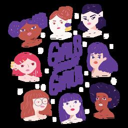 Las niñas apoyan a los personajes de las niñas.