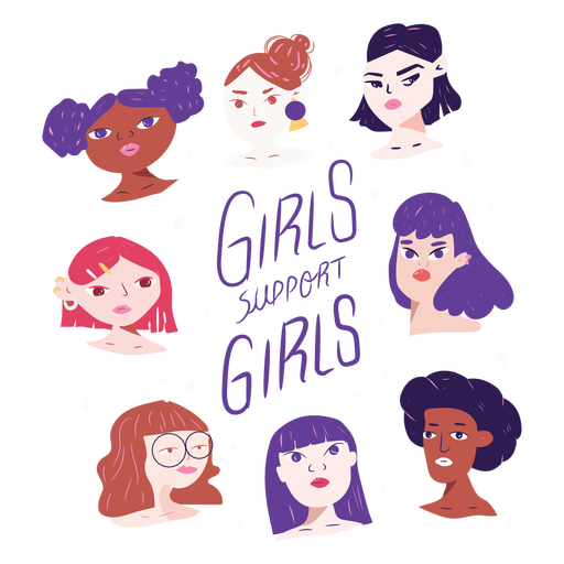 Girls support girls characters