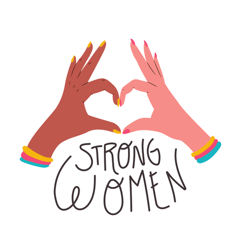 Strong women quote Transparent PNG