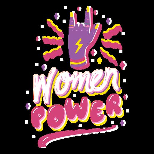 Citação de poder feminino Transparent PNG