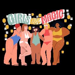 Las chicas son personajes mágicos