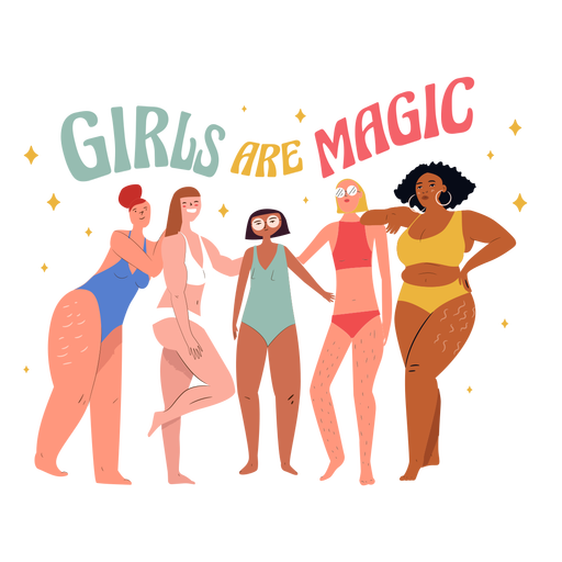 Girls are magic characters