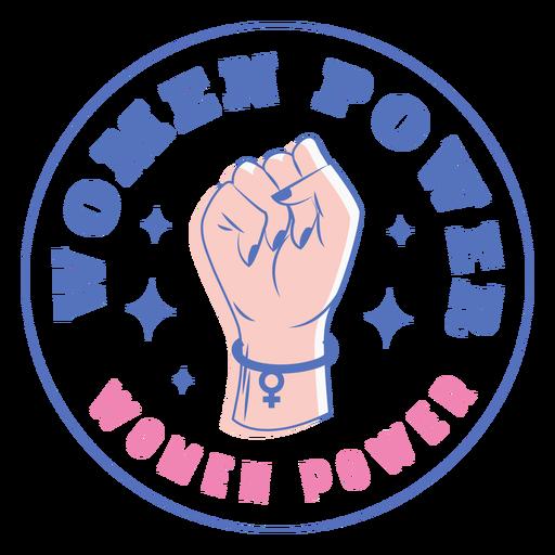 Badge women power