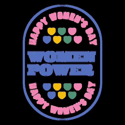 Insignia del día de la mujer feliz Transparent PNG