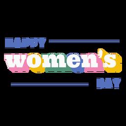 Cita del día de la mujer feliz
