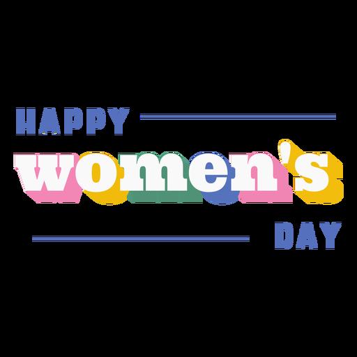 Cita del día de la mujer feliz Transparent PNG