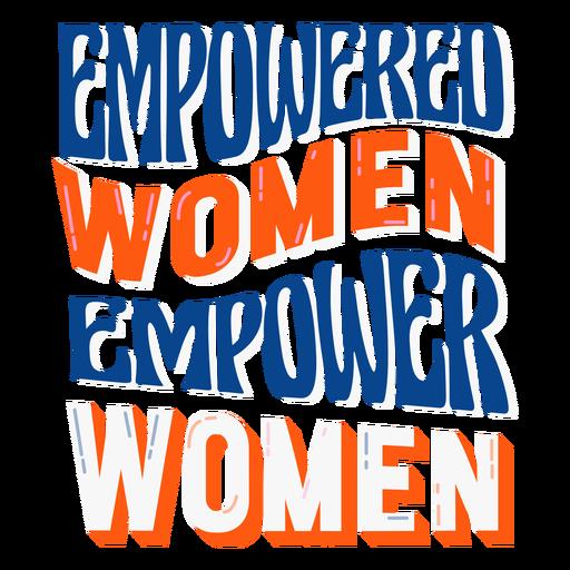 Empower women lettering