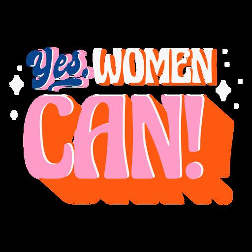Female empowerment lettering