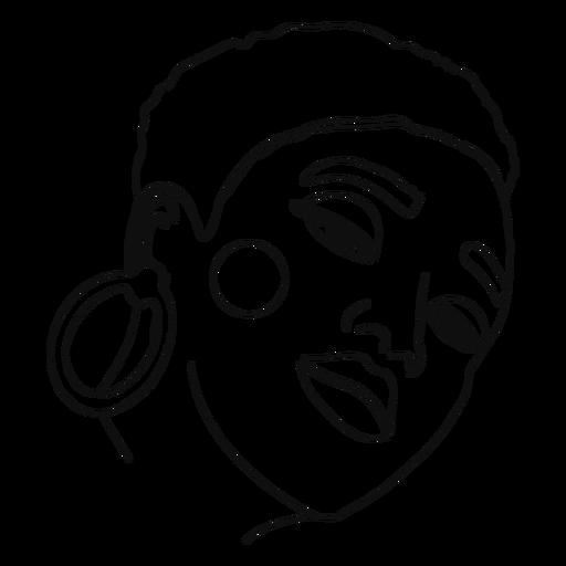 Continuous line woman portrait Transparent PNG