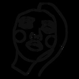 Continuous line girl portrait