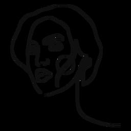 Portrait girl continuous line