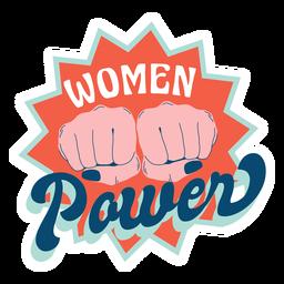 Woman power badge