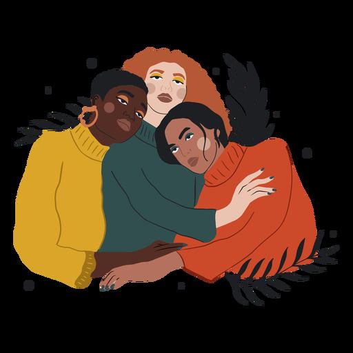 Tres mujeres abraz?ndose ilustraci?n