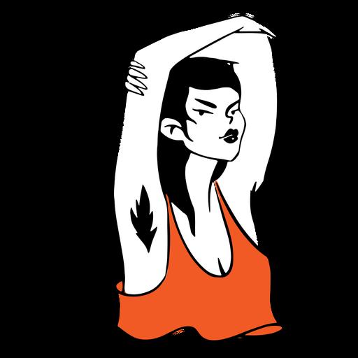 Confident girl illustration