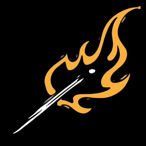 Ilustración de fósforo ardiente