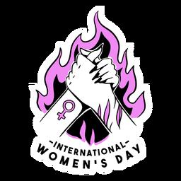Ilustración rosa del día internacional de la mujer