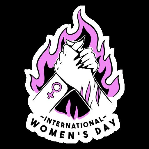 Ilustração rosa do dia internacional da mulher Transparent PNG