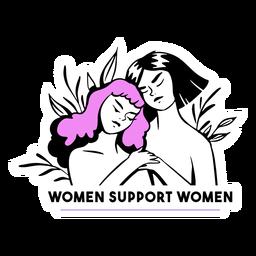 Women support women illustration