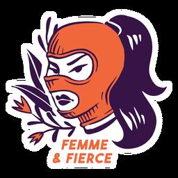 Femme e ilustração feroz
