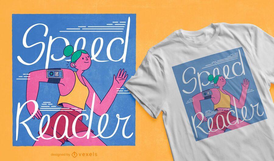 Speed reader t-shirt design