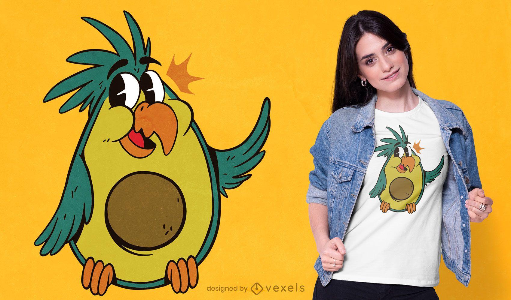 Bird avocado t-shirt design