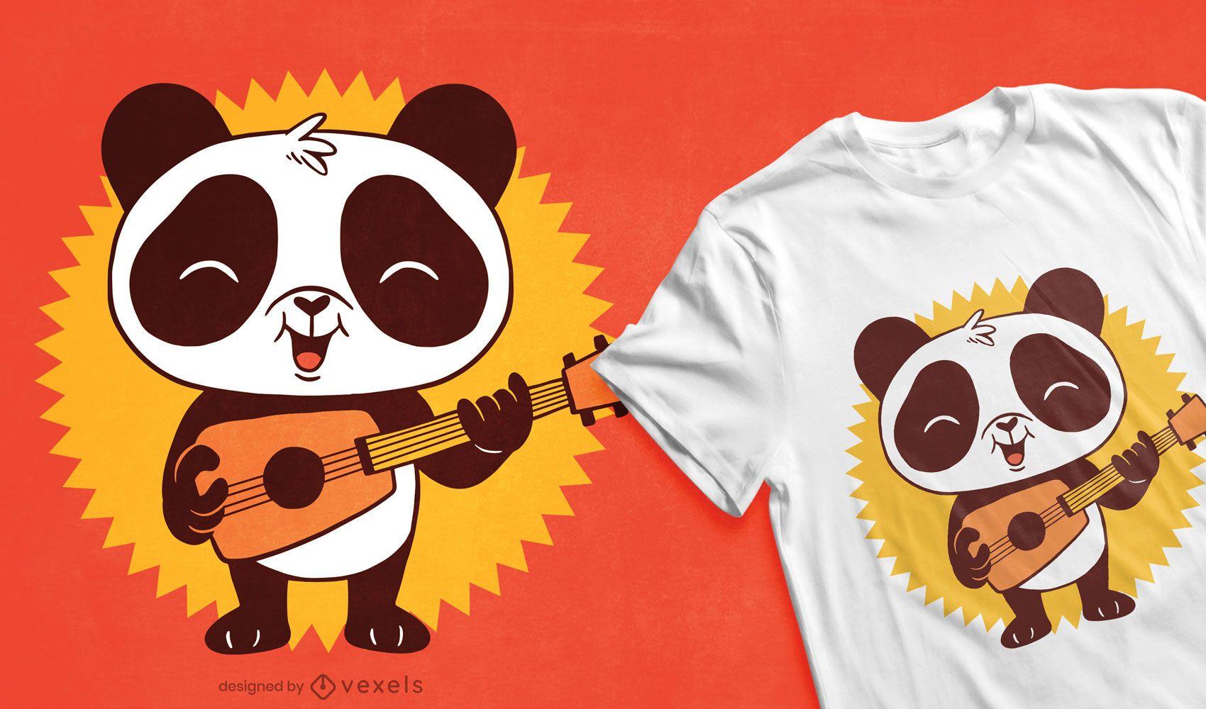 Design de camiseta bebê panda