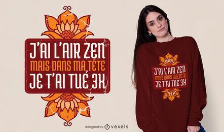 Miro diseño de camiseta zen