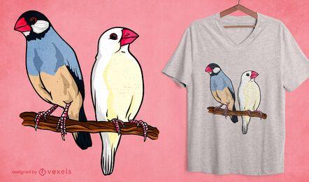 Design de camiseta do pardal Java