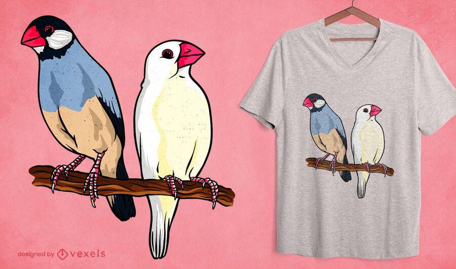 Diseño de camiseta de gorrión de Java