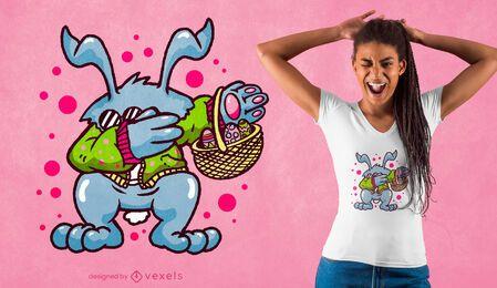Diseño de camiseta de conejito de pascua