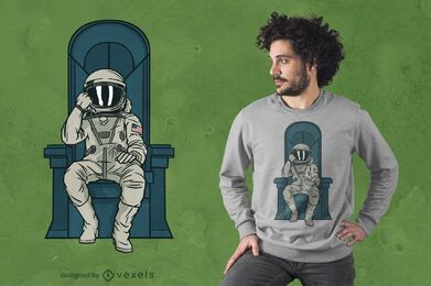 Astronaut throne t-shirt design