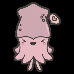 Plano de calamar kawaii
