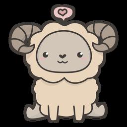 Plano de oveja kawaii