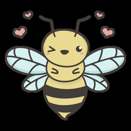 Cute bee flat Transparent PNG
