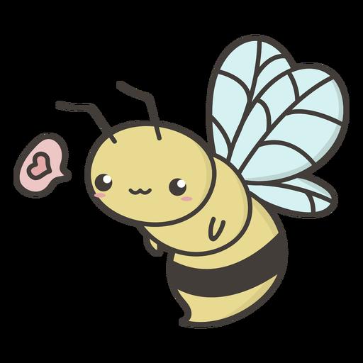 Cute flying bee flat