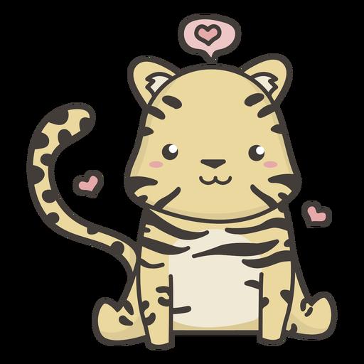 Plano tigre kawaii