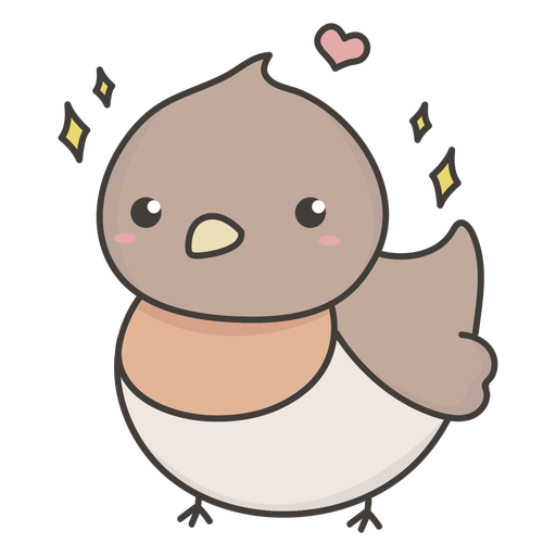 Cheerful bird flat