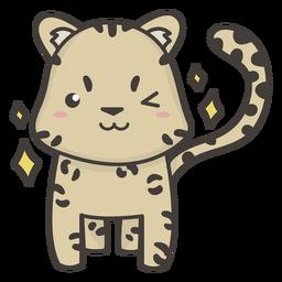 Cute cheetah winking flat