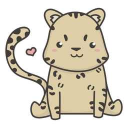 Cute cheetah flat