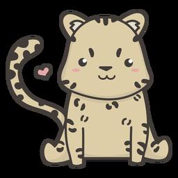 Lindo guepardo plano